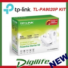 TP-Link TL-PA9020PKIT 2000Mbps 2-Port Gigabit Passthrough Powerline Adapter