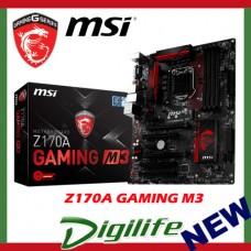 MSI Z170A GAMING M3 LGA 1151 ATX Motherboard Intel Skylake