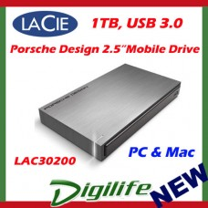 "LaCie 1TB Porsche Design 2.5"" USB3 Mobile Drive P'9220 PC/Mac LAC302000"