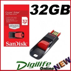 SanDisk 32GB Cruzer Edge USB Flash Drive Retractable Slider 5 Year Warranty