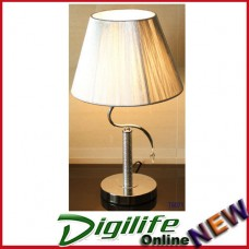 Simple Modern Elegant Fashionable Bedside & Living room Table Lamp Silver T6071