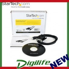 STARTECH 1 Port USB to Null Modem RS232 DB9 Serial DCE Adapter Cable with FTDI