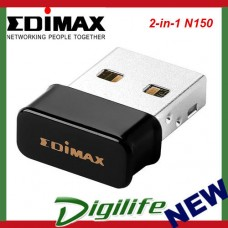 Edimax 2-in-1 N150 Wi-Fi & Bluetooth 4.0 Nano USB Adapter BT for Windows only