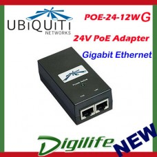 Ubiquiti POE adapter Injector 24VDC 12W POE-24-12W-G Gigabit Ethernet