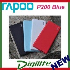 Rapoo P200 10000mAh 2.4A Ultra Slim Power Bank Dual Output Rubber Feel Anti-Slip