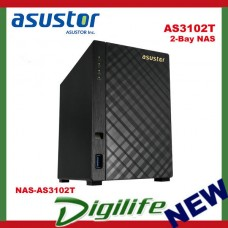 ASUSTOR AS3102T 2-Bay NAS, Dual-Core, 2GB DDR3L, GbE, USB 3.0, HDMI, WoL, AES-NI