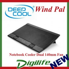 DeepCool Black Wind Pal Notebook Cooler 2 x 140mm Fan windpal
