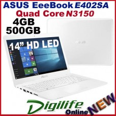 "ASUS E402SA 14"" HD LED Quad Core N3150 4GB 500GB Webcam HDMI WIFI Win10"