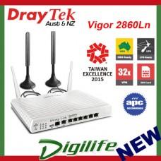 DrayTek Vigor 2860Ln 4G VDSL2/ADSL2+ Gigabit WAN VPN Firewall Router DV2860Ln