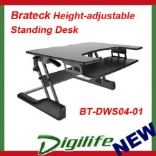 Brateck Height-adjustable Standing Desk for PC workstation BT-DWS04-01