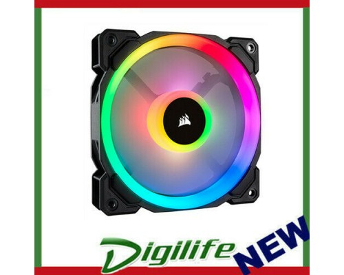 Corsair Light Loop Series,LL140 RGB,140mm Dual Light Loop RGB LED PWM Fan,Single