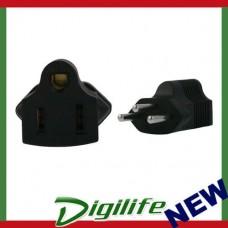 InLine US 3 Pin to Swiss 3 Pin Plug Adapter  PA-4615