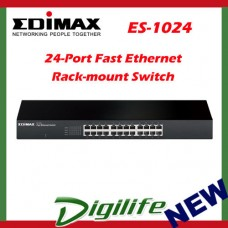 Edimax 24-Port Fast Ethernet Rack-mount Switch ES-1024