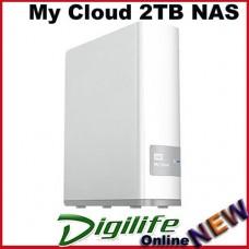 Western Digital My Cloud 2TB Desktop External Hard External in White - USB3.0