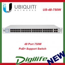 Ubiquiti UniFi Switch 48-port Managed POE+ Gigabit Rackmount US-48-750W