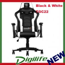 AEROCOOL ThunderX3 TGC22 Ergonomic Motorsports Inspired Gaming Chair Black/White