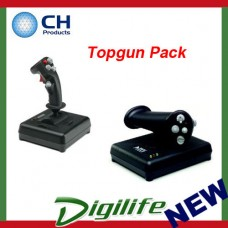 "CH Products ""Topgun Pack"" For PC & Mac (Inc USB Fighterstick + Pro Throttle)"