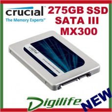 "Crucial MX300 275GB 2.5"" SATA3 7mm Internal Solid State Drive SSD 250GB"