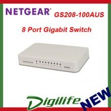 Netgear GS208 8 Port Gigabit Ethernet Desktop Switch