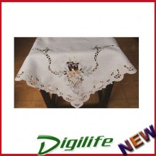 Vintage Luxury Hand Embroidery and Cutwork Table Cloth Christmas XLY-1108 36*36""