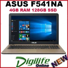 "ASUS VivoBook F541NA 15.6"" Intel Core N4200 4GB RAM 128GB SSD WIFI BT Win10"