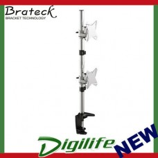 Brateck Dual Monitor Vertical Arm & Desk Clamp VESA 75/100mm Up to 27""