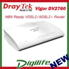 Draytek Vigor2760 VDSL2 Firewall Router 4XGBIT/2XVPN/3G/4G/IPV6/QOS DV2760