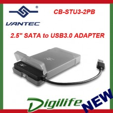 "VANTEC 2.5"" SATA to USB 3.0 HDD ADAPTER W/ CASE storage enclosure CB-STU3-2PB"