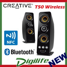 CREATIVE T50 2.0 Channel Wireless Bluetooth Speakers with NFC
