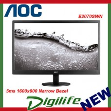 "AOC 19.5"" E2070SWN 5ms 1600x900 Narrow Bezel Monitor - VGA,Tilt,VESA100mm"