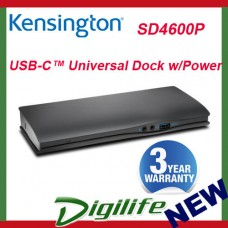 KENSINGTON DOCK SD4600P 4K,USB TYPE-C DOCKING STATION,USB-C,USB,GbE,HDMI,DP