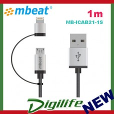 1M mbeat MFI certified Lightning & Micro USB Nylon cable iPhone&Samsung