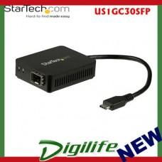 Startech USB-C to Fiber Optic Converter - Open SFP US1GC30SFP