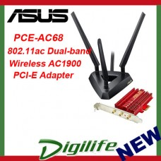 ASUS PCE-AC68 802.11ac Dual-band Wireless AC1900 PCI-E Adapter
