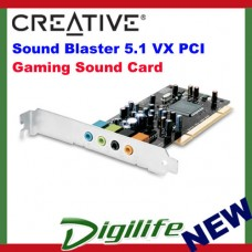 Creative Sound Blaster 5.1 VX PCI Retail box - 5.1 Channel SOUND CARD