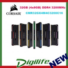 Corsair Vengeance RGB LED 32GB 4x8GB DDR4 3200MHz Gaming Desktop Memory RAM Kit