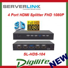 ServerLink 4 Port HDMI Splitter Supports Full HD 1080p SL-HDS-104