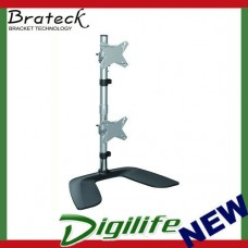 """Brateck Dual Monitor Vertical Desk Stand from 13''-27"""""""