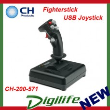 CH Products Fighterstick USB Joystick For PC & Mac CH-200-571