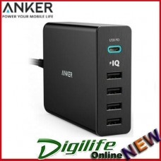 Anker PowerPort 5 Port 60W 1xUSB-C, 4x USB PD Fast Charge Mac Apple Samsung