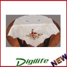 """Vintage Luxury Hand Embroidery and Cutwork Table Cloth Christmas XLY-1113 36*36"""""""