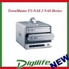 TerraMaster F2-NAS 2 NAS Device 2x 3.5' SATA Bay RAID 0/1 JBOD Gigabit, USB3.0