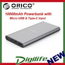 Orico T1 10000mAh USB Type-C Power Bank Battery Aluminum USB-C