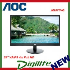 "AOC 28"" M2870VQ VAIPS 4m Full HD Monitor - DP/HDM/DVI/VGA,VESA100mm,Speaker"