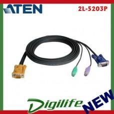 Aten KVM Cable SPHD15M - PS2M, PS2M, HD15M 3m 2L-5203P