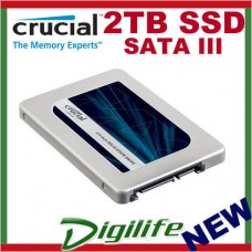 "Crucial MX300 2TB SATAIII 2.5"" Internal SSD 530MB/s,510MB/s Write 7mm"