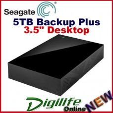 "Seagate 5TB Backup Plus 3.5"" Desktop External HDD USB 3.0 for PC & Mac"