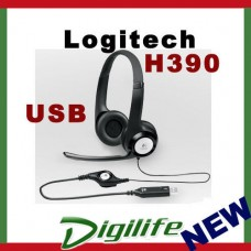 Logitech ClearChat Comfort H390 USB Headset For computer adjustable, padded head