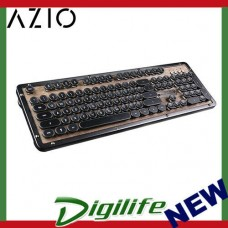 Azio Retro Classic Bluetooth Mechanical Keyboard - Elwood MK-RETRO-W-01B-US