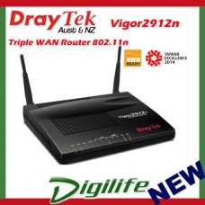 DrayTek Vigor 2912n Triple WAN Broadband Router 802.11n Wireless DV2912n